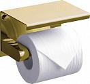 Держатель туалетной бумаги Rush Edge ED77141 с полкой, золото