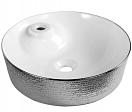 Раковина CeramaLux LuxeLine D1306H021 45 см белый/серебряный