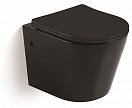 Подвесной унитаз CeramaLux В2330В с сиденьем микролифт, укороченный, черный