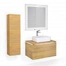 Мебель для ванной Jorno Karat 80 см, бук