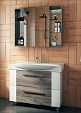 Мебель для ванной Vigo 5 звезд Leo 85 см сонома темный