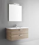 Мебель для ванной Arbi Petit 80 с зеркалом светлое дерево