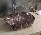 Раковина CeramaLux Stone Edition Mnc549 45.5 см бордовый