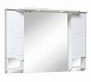 Зеркальный шкаф Руно Стиль 105 белый