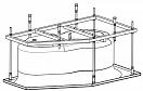 Каркас для ванн Riho YUKON 160x90