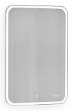 Зеркальный шкаф Jorno Bosko 50 см, с подсветкой и часами