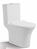 Унитаз CeramaLux 1217-P с сиденьем микролифт, безободковый