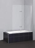 Шторка для ванны BelBagno Sela 120x140, прозрачная, круглые петли