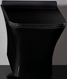 Подвесной унитаз CeramaLux TR2024-18 с сиденьем микролифт, черный