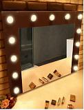 Зеркало Relisan Smile 90x70 см гримерное, с подсветкой