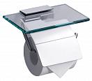 Держатель туалетной бумаги Rush Edge ED77131 с полкой, хром