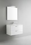 Мебель для ванной Arbi Petit 80 с зеркалом белый глянцевый