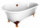 Чугунная ванна Elegansa Gretta 170x75 см bronze