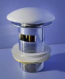 Донный клапан Gid WH100-1 белый с переливом