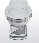 Чаша для унитаза Creavit Klasik KL310.001I0 диагональ серый