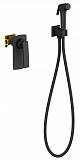 Смеситель Timo Helmi 4089/03SM с гигиеническим душем, черный матовый