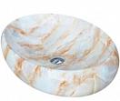 Раковина CeramaLux Stone Edition Mnc166 59 см белый/бежевый