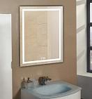 Зеркало Relisan Wendy 60x80 см, с подсветкой и часами