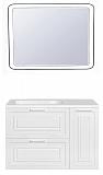 Мебель для ванной Style Line Альба 90 см подвесная, L, белый