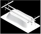 Каркас для ванны Jacob Delafon Patio/Odeon 150x70