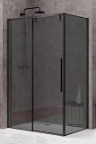 Душевой уголок Black&White Stellar Wind S898 120x90, черный, тонированный