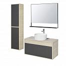 Мебель для ванной Акватон Лофт Урбан 100 см графит/дуб орегон