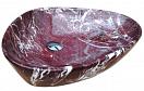 Раковина CeramaLux Stone Edition Mnc208 59 см белый/бордовый