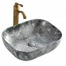 Раковина CeramaLux Stone Edition K397G124 50 см серый, с донным клапаном