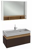 Мебель для ванной Jacob Delafon Terrace 100 см ледяной коричневый