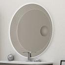 Зеркало Cezares 100x100 см, с увел. зеркалом 45011