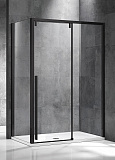 Душевой уголок Vincea Lugano VSR-1L-1 120x90 черный, прозрачный