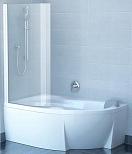 Шторка для ванны Ravak Chrome CVSK1 Rosa 160/170 L белый