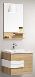 Мебель для ванной Orans BC-2023D-800 80 см дуб/белый глянец