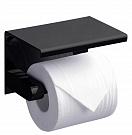 Держатель туалетной бумаги Rush Edge ED77141 с полкой, черный