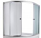 Шторка для ванны Marka One Aura 160x105 хром, прозрачный