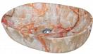 Раковина CeramaLux Stone Edition Mnc174 60 см красный/оранжевый