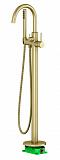 Напольный смеситель Timo Saona 2310/17Y-CR с душем, золото матовое