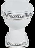 Чаша для унитаза Creavit Klasik KL310-11CB00E-XA00 Vercaci хром ( снято с производства)