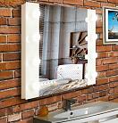 Зеркало Relisan Pure 80x60 см гримерное, с подсветкой