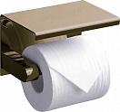 Держатель туалетной бумаги Rush Edge ED77141 с полкой, светлая бронза