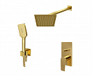 Душевой набор WasserKRAFT Aisch A55201 матовое золото