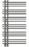 Полотенцесушитель водяной Zehnder Yucca Asymmetric YAC-090-050 Chrom