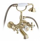 Смеситель для ванны Timo Nelson 1914Y-CR с душем, антик