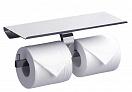 Держатель туалетной бумаги Rush Edge ED77142B с полкой, хром