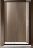 Душевая дверь Vincea Garda 140x190 черный, прозрачная