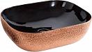 Раковина CeramaLux LuxeLine D1302H024 50.5 см черный/розово-золотой