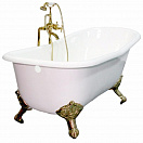 Чугунная ванна Elegansa Schale gold 170x75 см