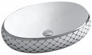 Раковина CeramaLux Color Edition Nc262 60 см белый/серебряный