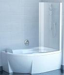 Шторка для ванны Ravak Chrome CVSK1 Rosa 160/170 R белый