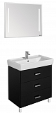 Мебель для ванной Акватон Америна 80 М, черный